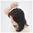 Not to touch the bottle to the head, sprinkle Super Million Hair away from the hair again.